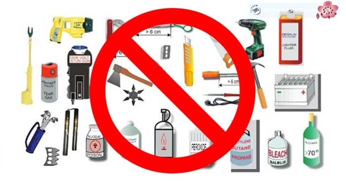 List of goods prohibited im express delivery