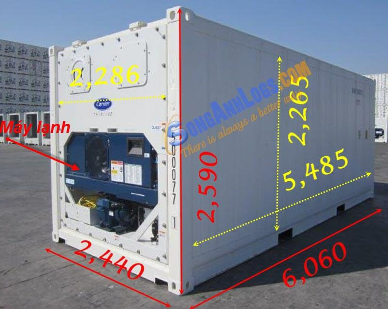 Container 20 feet Lạnh RF