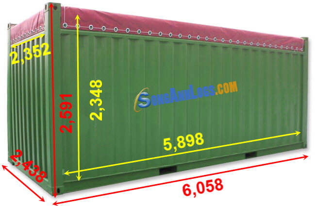 Kích Thước Container 20 feet Open TOP (OT)