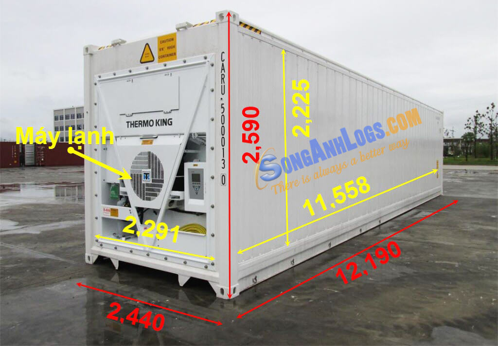 Container 40 feet Lạnh