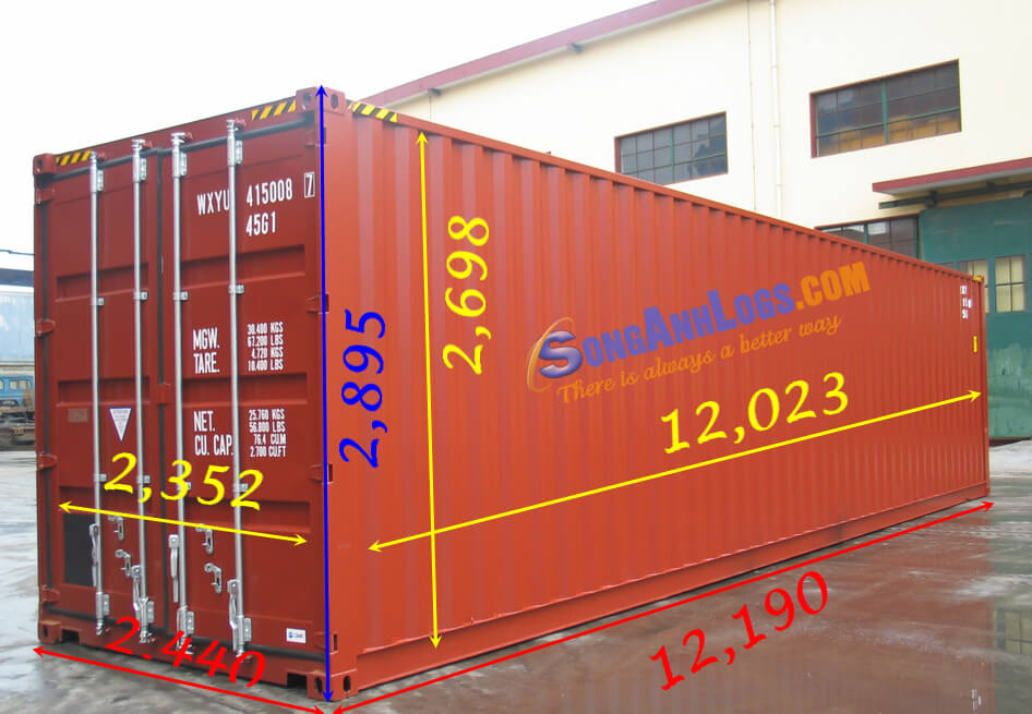 Kích Thước Container 40 Cao